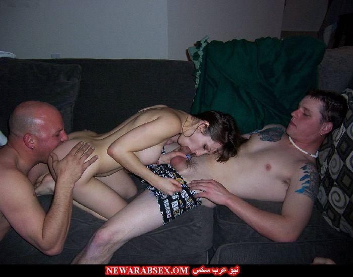 زوجه قحبة مع رجلين